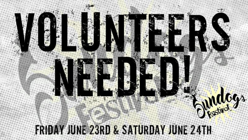 Sundogs Festival – Volunteers Needed